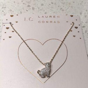 LC Lauren Conrad Cat Necklace Cubic Zirconia NWT